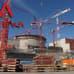 Olkiluotoon valmistuva ydinvoimala ,jonka Areva-yhtiö rakentaa.