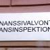 Finanssivalvonta -seinäkyltti Helsingin Snellmanninkadulla.