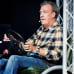 Jeremy Clarkson Top Gear Live -ohjelman harjoituksissa.