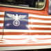 Uutta tv-sarjaa mainostetaan natsiaiheisilla kuvilla New Yorkin metrossa.