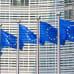 Europeiska flaggor vajar i Bryssel.