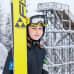 14-vuotias Julia Äikäs harjoittelee yhdistetyn lajeja.