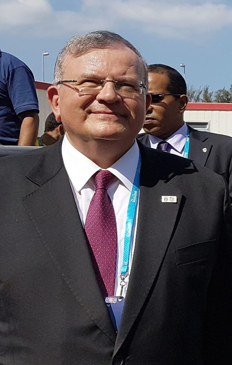 Kreikan suurlähettiläs Kyriakos Amiridis osallistui kesäolympialaisten avajaisiin kesällä 2016 Rio de Janeirossa, Brasiliassa.