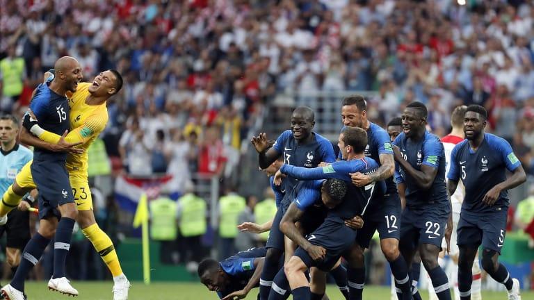 Ranska on jalkapallon maailmanmestari! Les Bleusin hyökkäysvoima tyrmäsi Kroatian huimassa maali-iloittelussa