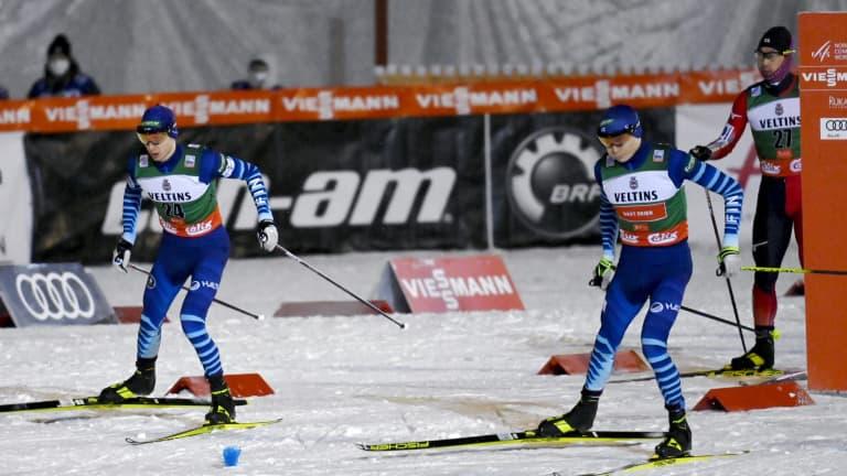 Herola ja Hirvonen hiihto-osuuden nopeimmat menijät  norjalaisnuorukaiselle...