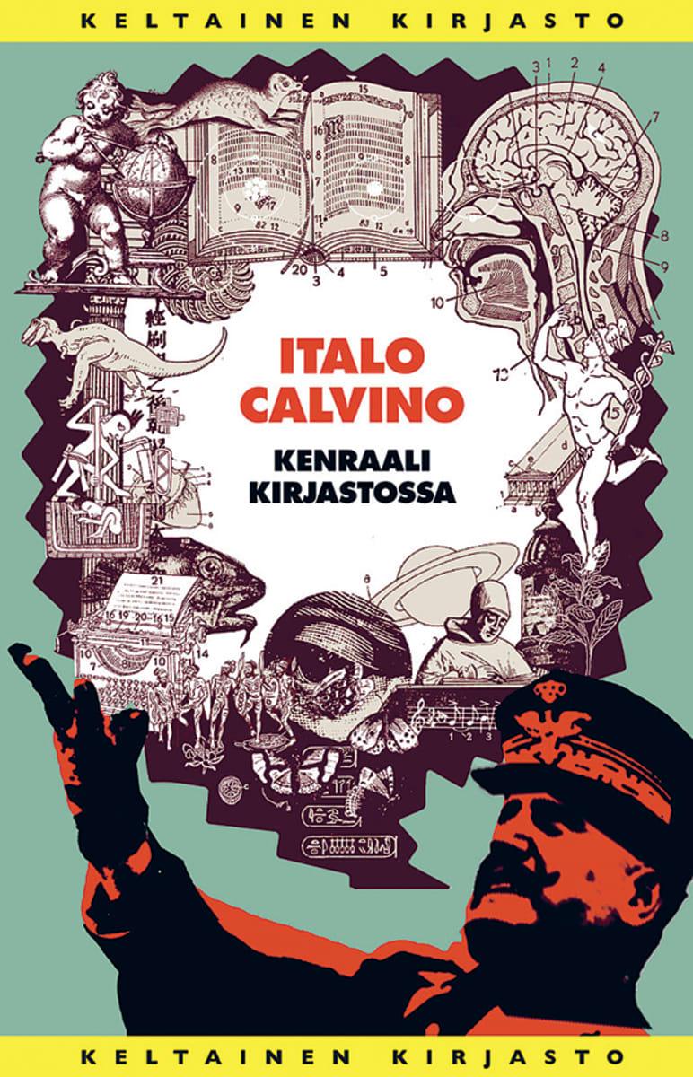 Italo Calvino: Kenraali kirjastossa -kirjan kansi