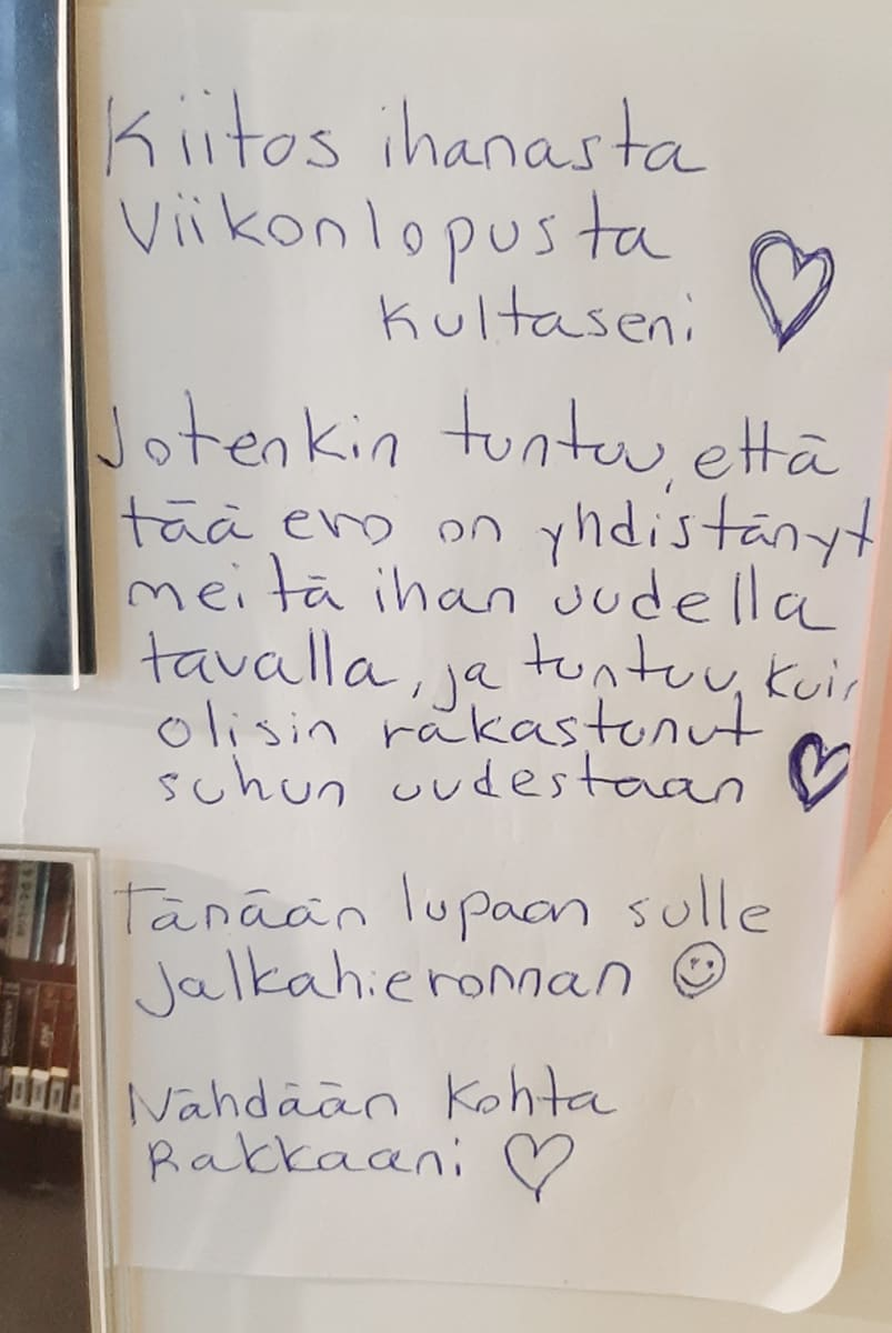 Jani Suihkola jätti ex-vaimonsa kotiin romanttisen viestin.