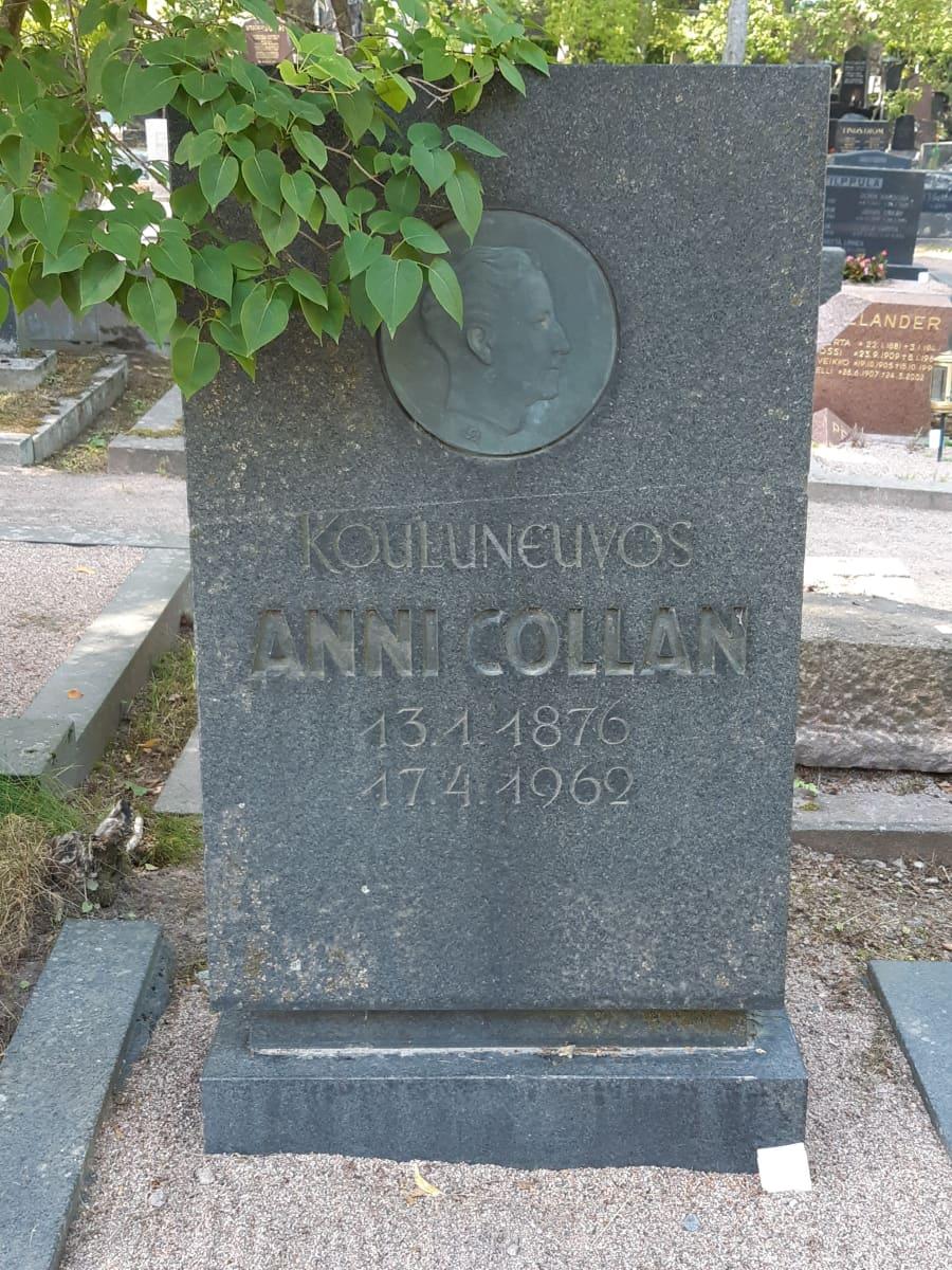 Anni Collanin hauta