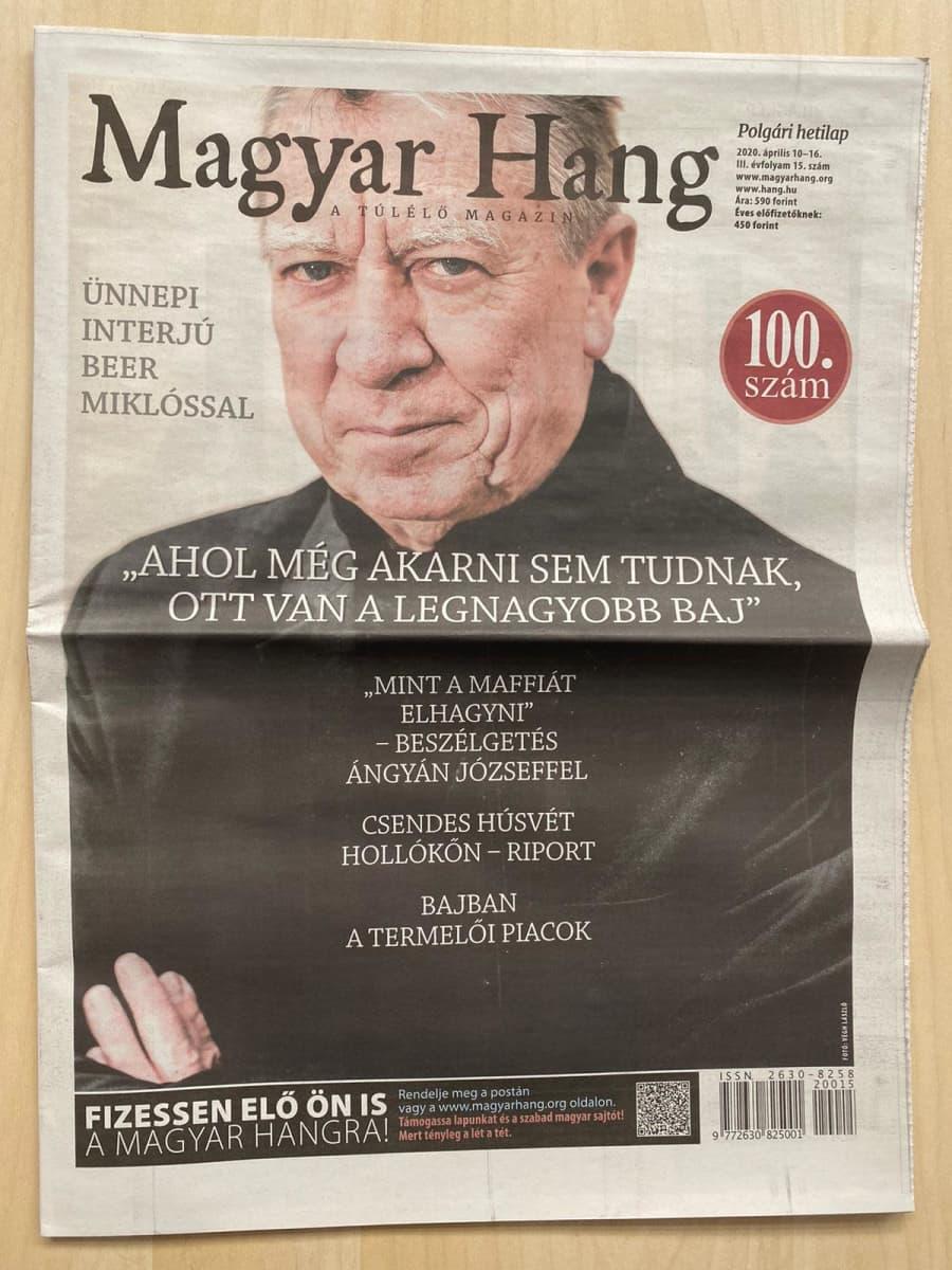 Magyar Hangin 100. lehti