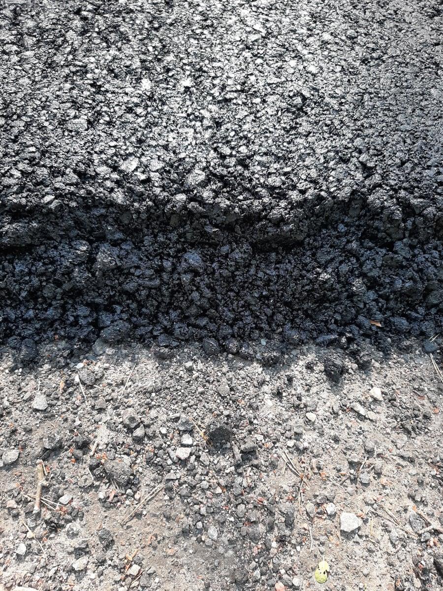 Asfalteringen vid Fagerviksvägen är tjock sommaren 2021.