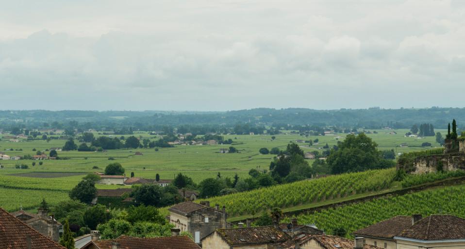 Maalaismaisemaa Ranskassa.