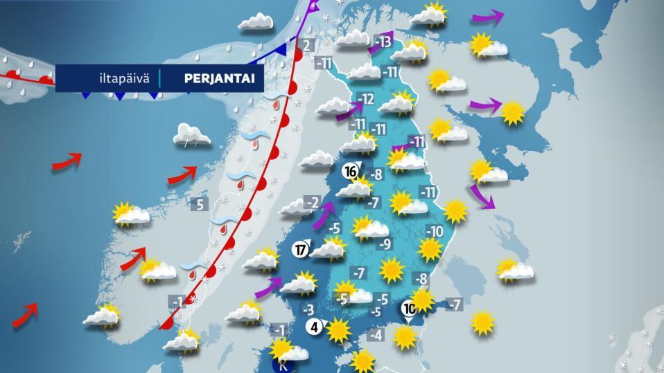 Perjantai-iltapäivän sää