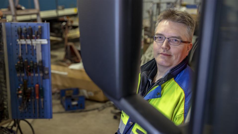 Kuljetusliike Taipaleen tekninen johtaja Riku Vainio