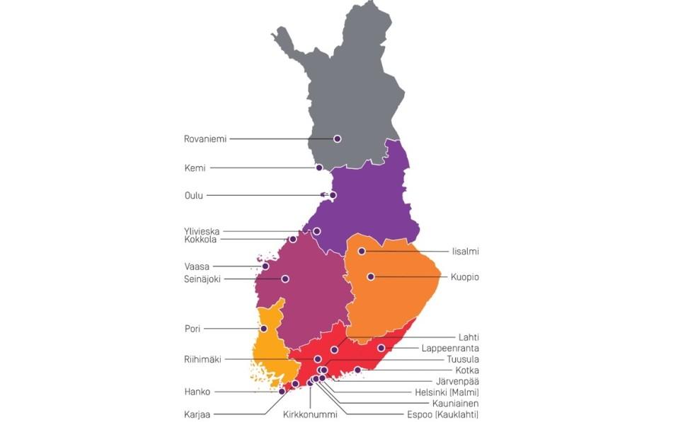 Uusittavat asema-alueet Suomessa