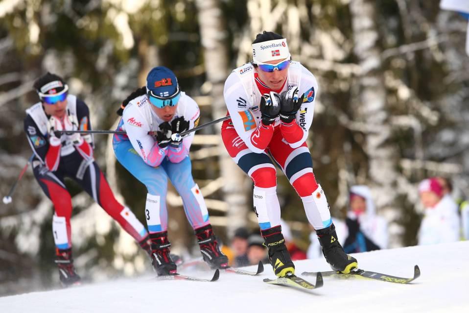 Krista Pärmäkoski ja Marit Björgen.