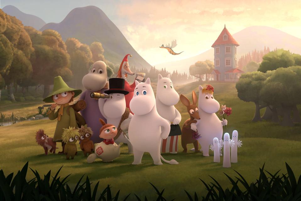 Muumilaakson väki uudessa animaatiosarjassa.