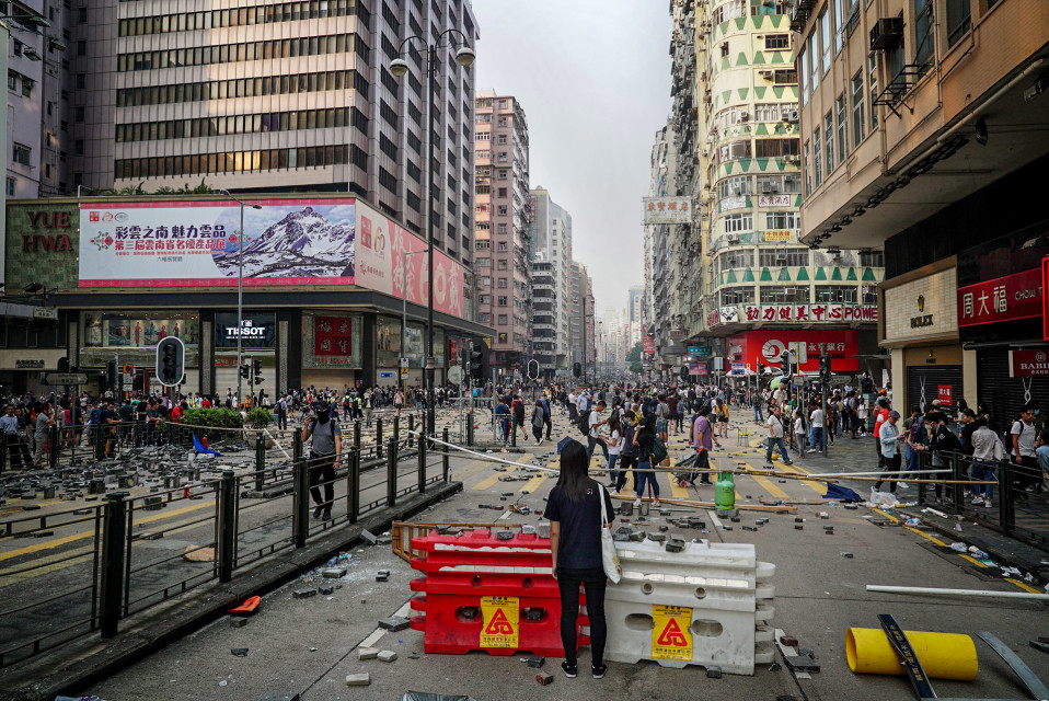 Mielenosoitus Hongkongissa