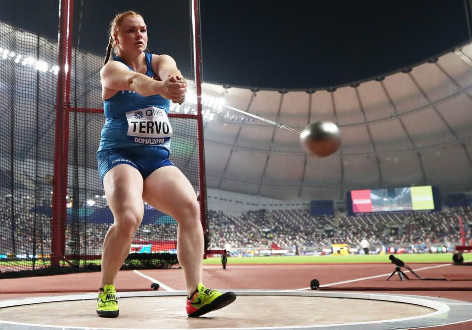 Krista Tervo edusti Suomea Dohan MM-kisoissa 2019.