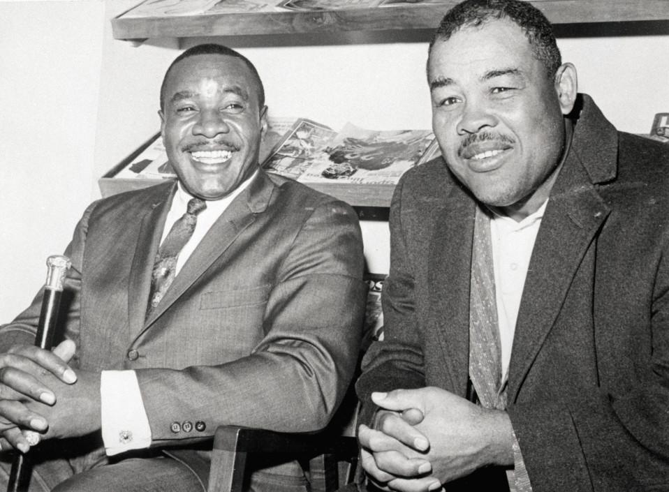Sonny Liston ja Joe Louis vuonna 1963