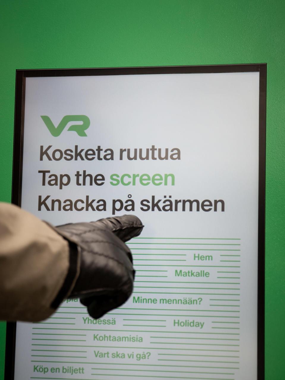 VR:n lippuautomaatti