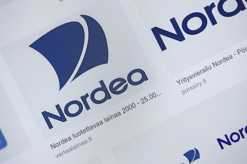Nordean logo nettipalvelussa.