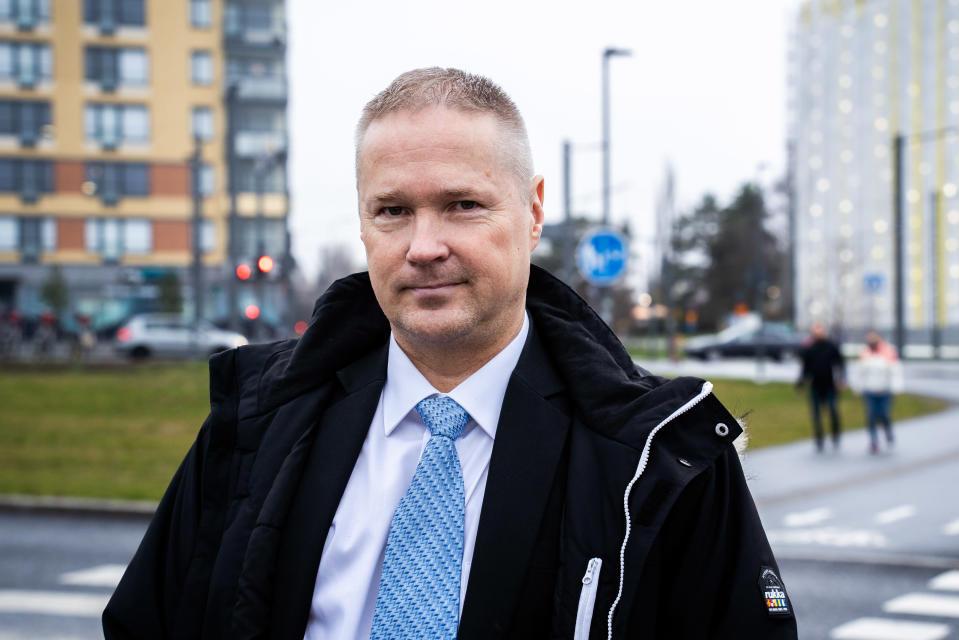 Perussuomalaisten tamperelainen kunnanvaltuutettu Lassi Kaleva.