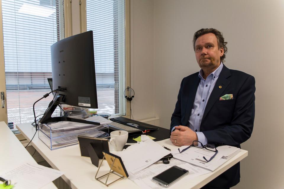 toimitusjohtaja Mats Väisänen toimistohotelli Itäkeskus
