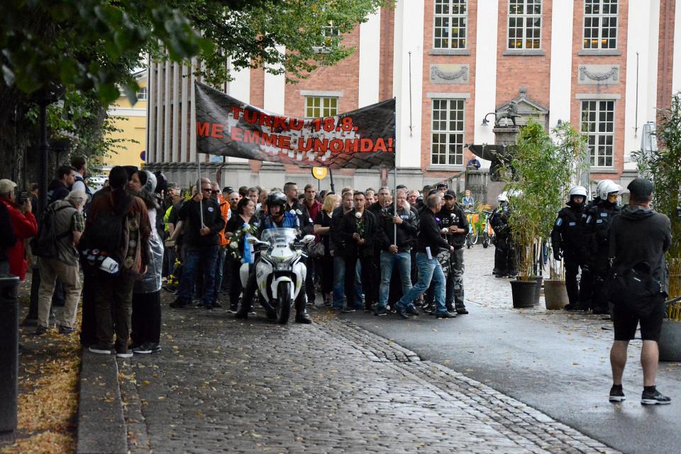 Demonstrations marking Turku terrorist attack pass off peacefully
